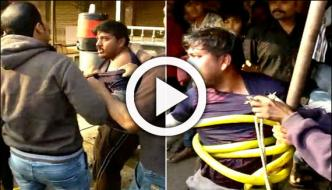 بھارت: مشتعل ہجوم نے اغواکاروں کی درگت بنادی
