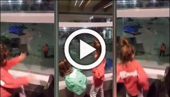ایئرپورٹ پر دو ننھی بہنوں کے ناچنے کی وڈیو وائرل