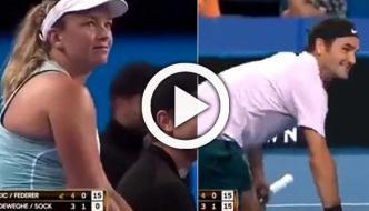 فیڈرر اور جیک کا خواتین ٹینس کھلاڑیوں کے ساتھ مذاق ،ویڈیو وائرل