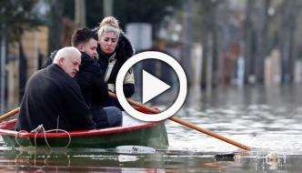 پیرس: دریائے سین میں پانی کی سطح بلند، ریستوران زیر آب آگئے