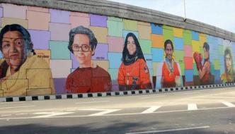 بھارتی دیواروں پر ملالہ کی تصویر
