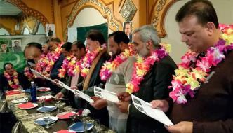 مسلم لیگ ن اسپین کے نومنتخب عہدیداران کی تقریب حلف برداری