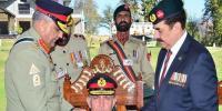 آرمی چیف جنرل قمر جاوید باجوہ کافرنٹیئر فورس رجمنٹل سینٹر ایبٹ آباد کا دورہ