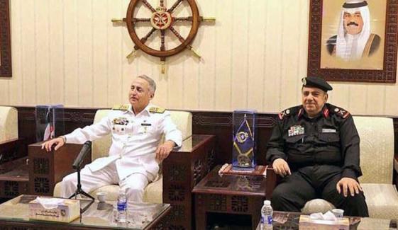 سربراہ پاک بحریہ کی کمانڈرنیول فورسز کویت سے ملاقات، باہمی تعاون پرزور