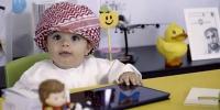 ابوظہبی میں 8 ماہ کے'ملازم'بچے کے چرچے