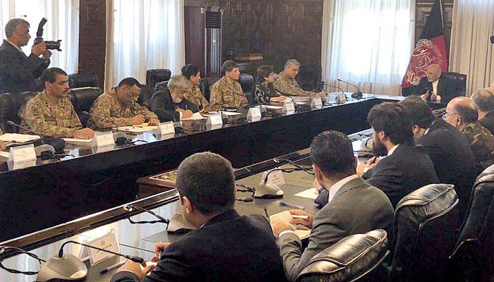 آرمی چیف کی کابل میں صدر، چیف ایگزیکٹو، امریکی کمانڈر سے ملاقات، باڑھ دہشت گردوں کیلئے ہے عوام کیلئے نہیں، جنرل باجوہ