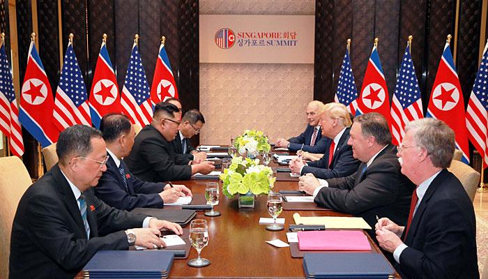 امریکا اور شمالی کوریا کے صدور کی تاریخی ملاقات، امن کیلئے مشترکہ جدوجہد کا معاہدہ