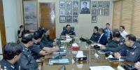 آئی جی سندھ امجدجاوید سلیمی کی سینٹرل پولیس آفس آمد ، خصوصی دستے نےگارڈ آف آنر پیش کیا