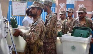 الیکشن، ساڑھے 3 لاکھ فوجی ڈیوٹی دینگے، وزارت دفاع اہلکار دینے پر راضی