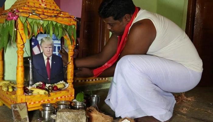 بھارت میں ٹرمپ کی تصویر کی پوجا کی جانے لگی