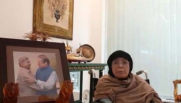 بچوں کو جیل بھیجا تو میں بھی انکے ساتھ جاؤنگی، والدہ نواز شریف ،ویڈیو پیغام