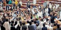 قومی اسمبلی، ن لیگ کا شدید احتجاج، عمران کا گھیرائو، تحریک انصاف کے بھی نعرے
