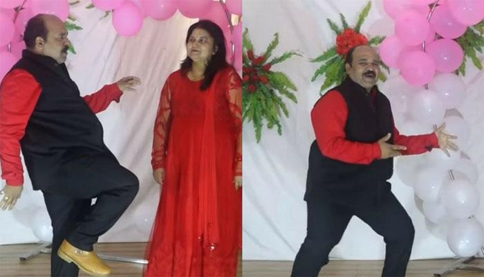 بھارتی پروفیسر کی مشہور گانے'جولی جولی'پر شاندار پرفارمنس