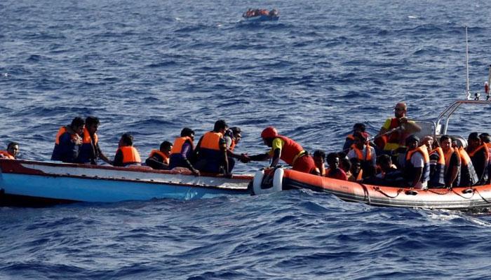 بحیرہ روم، مہاجرین کی کشتیاں الٹنے سے100 افراد ہلاک