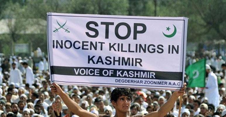 مقبوضہ کشمیر، شہید نوجوانوں کے جنازے پر بھی بھارتی فائرنگ،کولگام میں گھر گھر تلاشی مظاہرین پر شیلنگ،فورسز پر پتھرائو