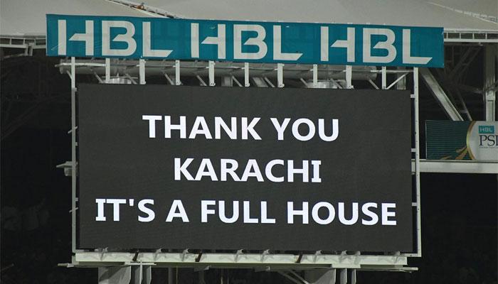 اسٹیڈیم ہائوس فل ، ہرٹیم کو سپورٹ، اہل کراچی نے غیرملکی کرکٹرز کے دل جیت لئے