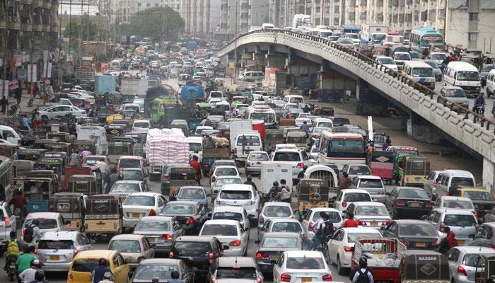 شہر کے بیشتر علاقوں میں بدترین ٹریفک جام، شہری اذیت کا شکار