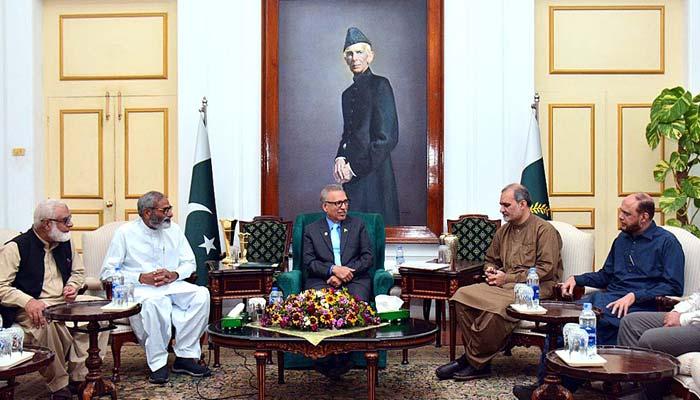 صدر عارف علوی سے حافظ نعیم کی ملاقات