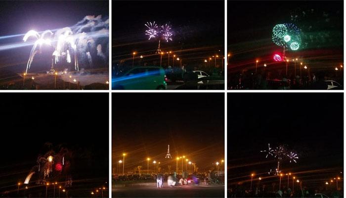 یوم پاکستان پر بحریہ ٹاؤن کراچی میں شاندار تقریب 'آتش بازی