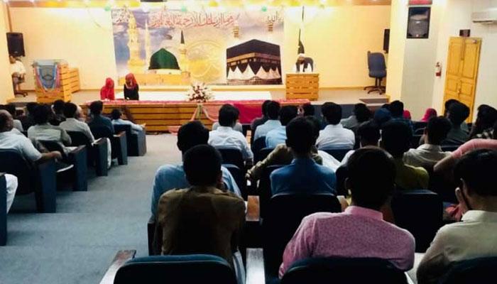 سندھ بلڈنگ کنٹرول اتھارٹی کے زیر اہتمام محفل میلادالنبی ﷺ کا انعقاد