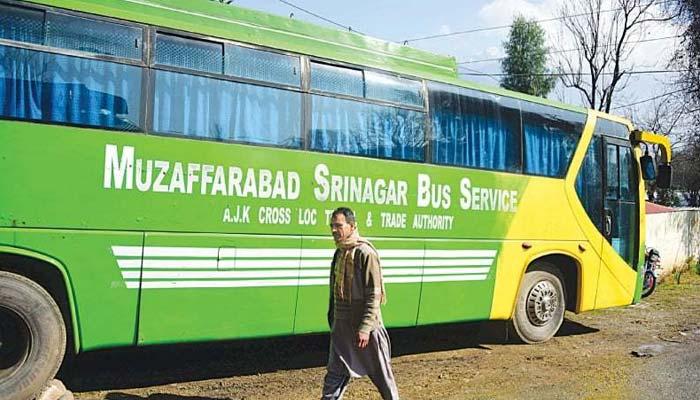 سرینگر مظفرآباد بس سروس بحال، 2مسافر مقبوضہ کشمیر پہنچ گئے