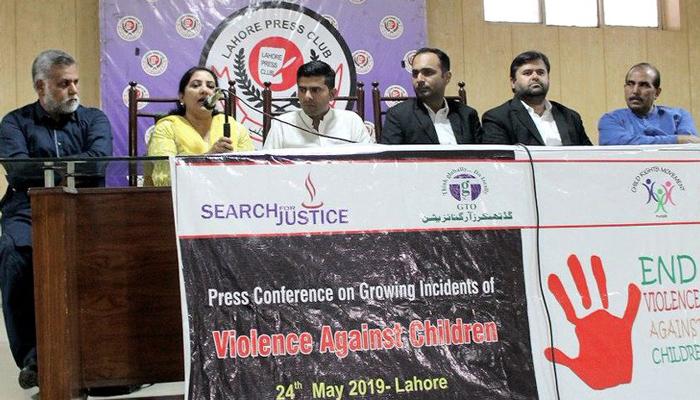 پنجاب میں60فیصدبچوں کیساتھ جنسی وجسمانی تشددکےواقعات سالانہ بنیادوں پر رپورٹ ہورہے ہیں،غیرسرکاری تنظیموں کےنمائندگان