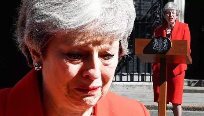 بریگزٹ،تھریسامے کا زارو قطار روتے ہوئے مستعفی ہونے کا اعلان