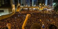Protest March Continues In Hong Kong