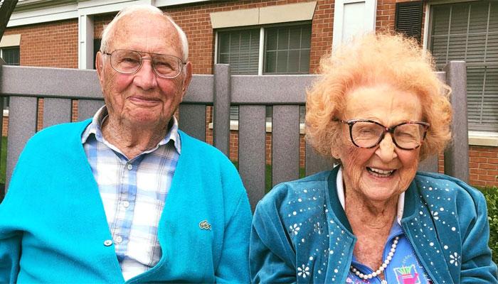 امریکا میں 100 سالہ جان اور 103 سالہ فلیس رشتہ ازدواج میں بندھ گئے