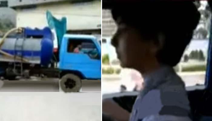 شہر میں 8 سالہ بچی کی واٹر ٹینکر چلاتے ہوئے ویڈیو کا ڈراپ سین