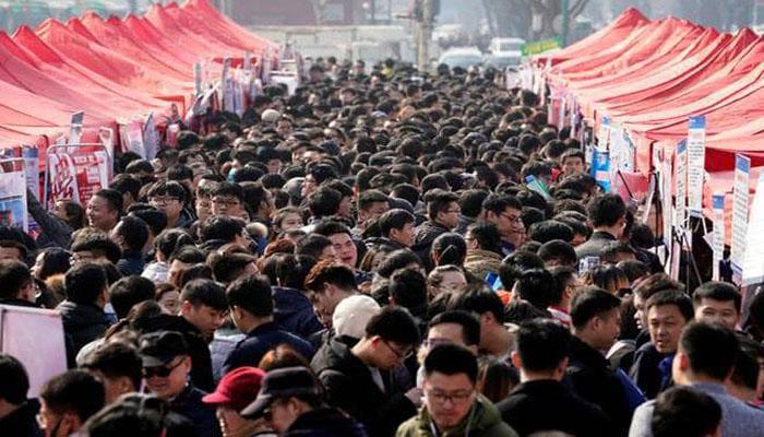 چین کی مجموعی آبادی ایک ارب 40 کروڑ ہوگئی