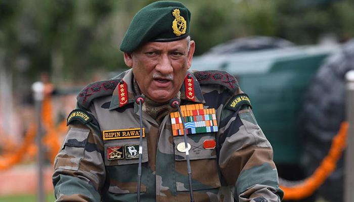 بھارتی فوج پاکستانی کشمیر پر قبضہ کےلئے تیار ہے، بپن راوت