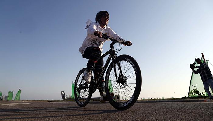 گرلز سائیکل ریس نصیبہ کے نام
