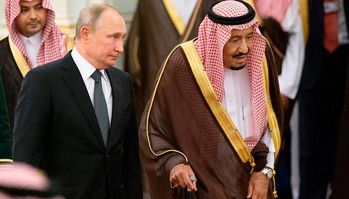 روسی صدر پیوٹن کی سعودی عرب آمد، شاہ سلمان سے ملاقات