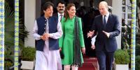 برطانوی شاہی جوڑے کی صدر، وزیراعظم سے ملاقاتیں
