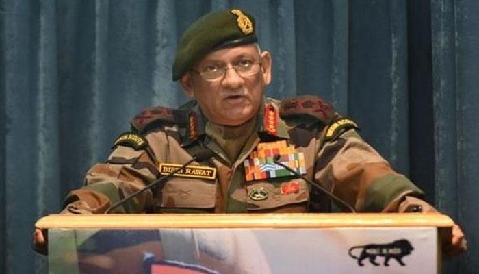دہشتگردی کیخلاف کارروائی کیلئے پاکستان پر دباؤ ہے، بھارتی آرمی چیف