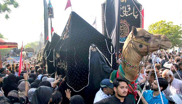 شہدائے کربلا کا چہلم عقیدت و احترام سے منایا گیا،سکیورٹی کے سخت انتظامات