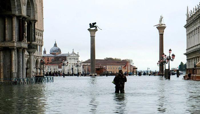 اٹلی کا تاریخی شہر وینس 50؍ سالہ تاریخ میں پہلی مرتبہ ڈوب گیا
