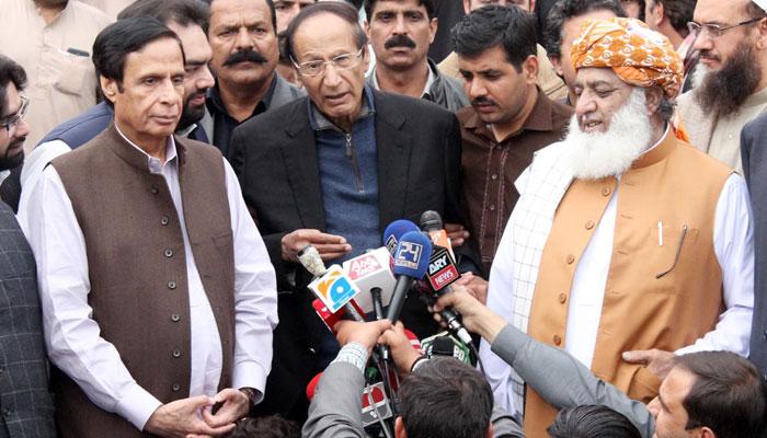 حکومت کی نواز شریف کے معاملے پر بے حسی، فضل الرحمٰن، عمران خان دل بڑا کریں، چوہدری شجاعت