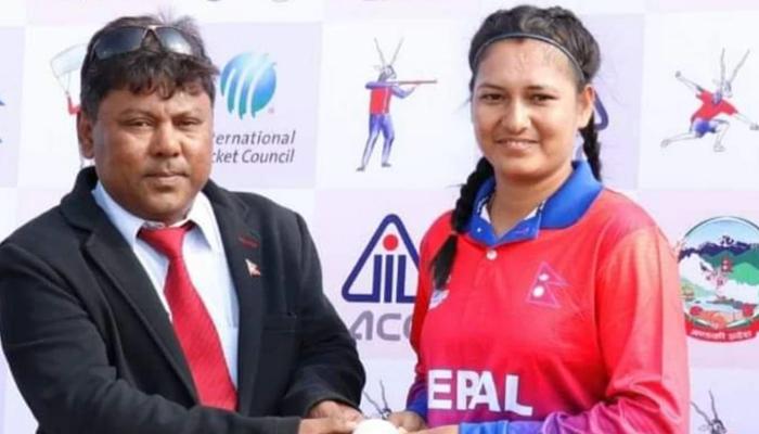 نیپالی بولرکےرن دیے بغیر چھ وکٹ