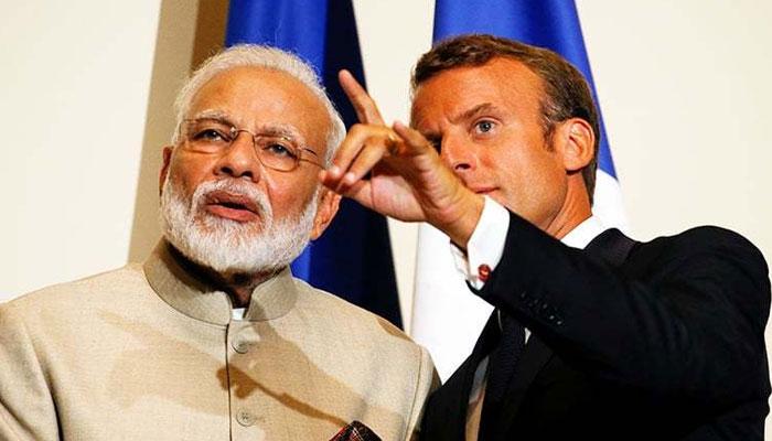 فرانسیسی صدر کا مودی کو ٹیلی فون ،کشمیر کے مسئلے پر تبادلہ خیالات