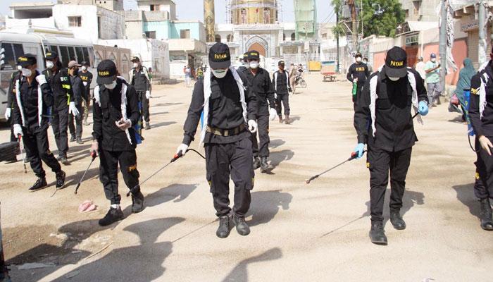 پیام ولایت فاؤنڈیشن اسکاؤٹس کے تحت ملیر کے مختلف مقامات پر اسپرے