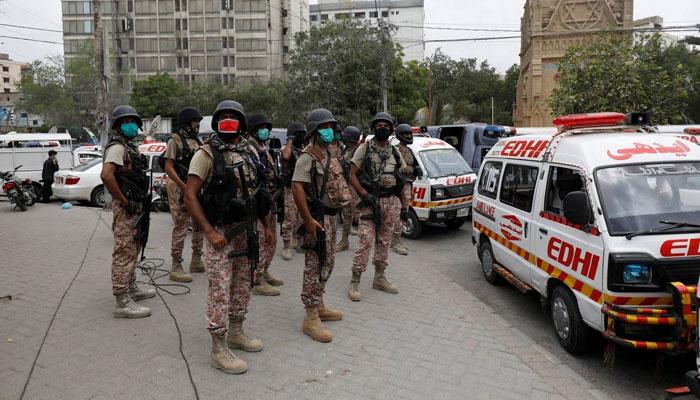 کراچی میں اسٹاک ایکسچینج پر حملہ پاکستان کی سالمیت کے خلاف سازش ہے، کمیونٹی رہنما