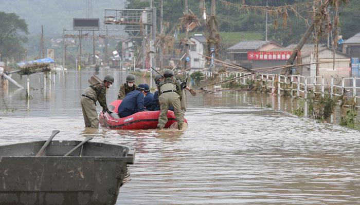جاپان،سیلاب سے ہلاکتیں 52 ہوگئیں، 30 لاکھ افراد کو انخلا کی ہدایت