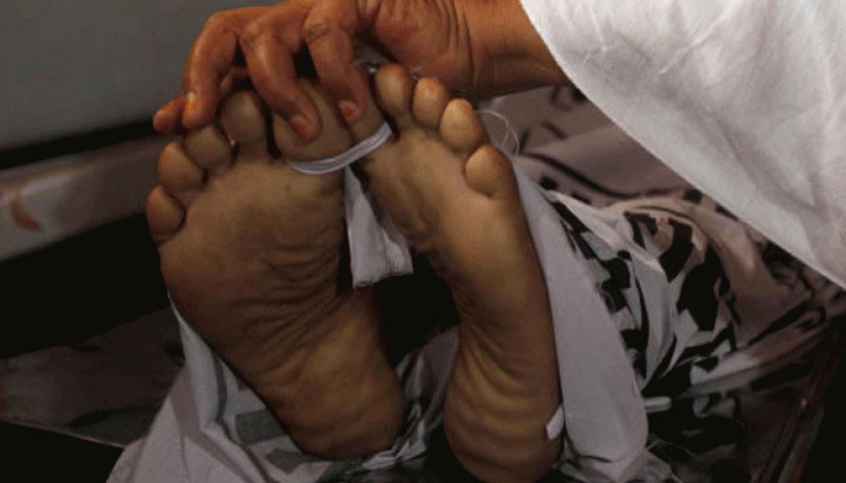 سرجا نی ٹاون ندی سے ملنے والی لاش خاتون کی نکلی ، مقتولہ کو نامعلوم ملزمان نے گلہ گھونٹ کر قتل کیا