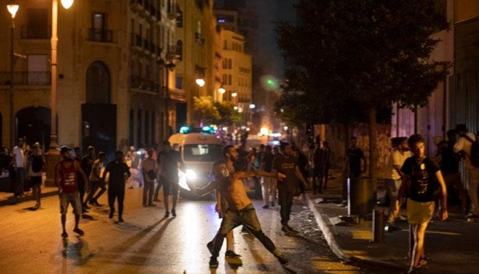 لبنان کی پارلیمنٹکے سامنے احتجاج ، فورسز سے جھڑپیں