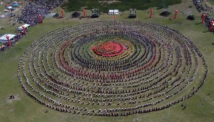 چین، تبت کے لوک رقص کے دنیا بھر میں چرچے