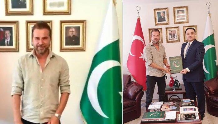 انجن آلتان کی پاکستانی سفارتخانہ آمد، پاکستانیوں کو یوم آزادی کی مبارکباد