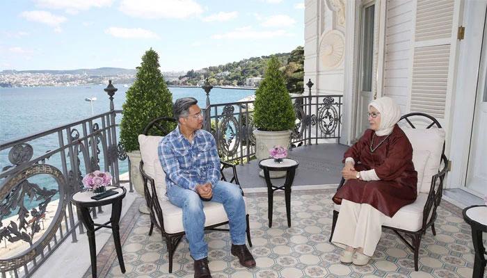 بالی ووڈ سُپر اسٹار عامر خان کی تُرک خاتون اول سے ملاقات