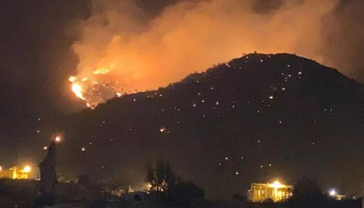 طائف،جبل عمد پر آگ